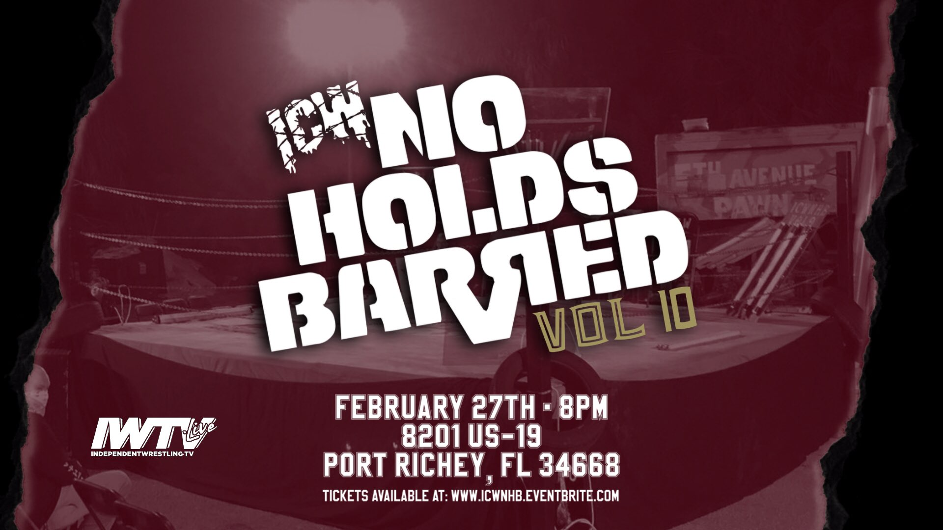 ICW No Holds Barred 2/27/2021 No Holds Barred Vol. 10 Results - PWPonderings